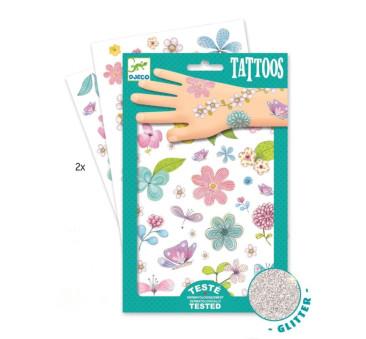 Kwiaty - Tatuaże Brokatowe - Djeco