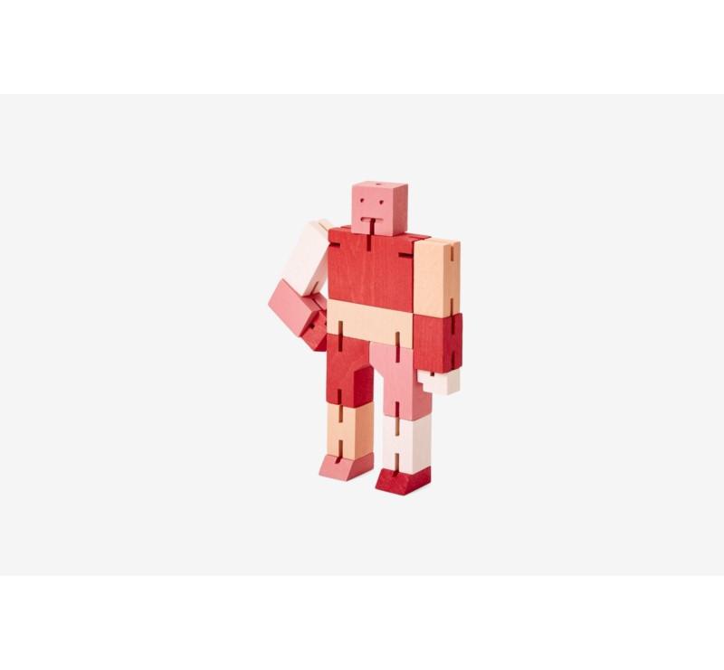 Multi Red Micro Capsule - Drewniane Klocki Roboty - CUBEBOT