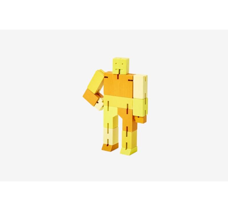 Multi Yellow Micro Capsule - Drewniane Klocki Roboty - CUBEBOT
