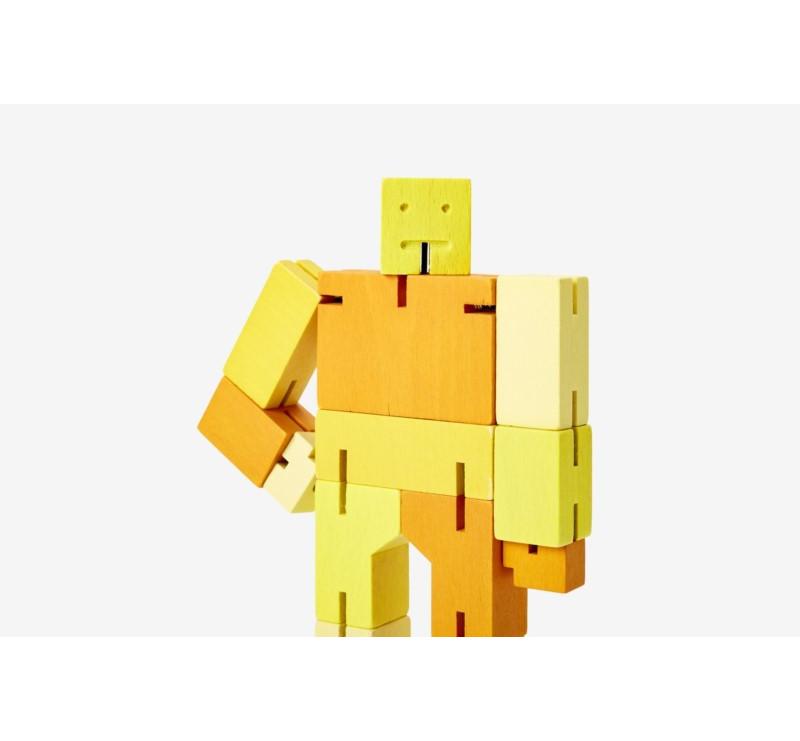 Multi Yellow Small Capsule - Drewniane Klocki Roboty - CUBEBOT