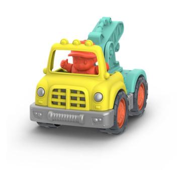 MAŁA CIĘŻARÓWKA DŹWIG Z KIEROWCĄ - Little Crane Truck - Wonder Wheels