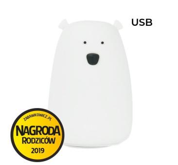 Biały Miś - Nowa Duża Lampka Silikonowa - Rabbit & Friends