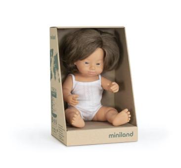 Europejka Down Syndrom 38 cm - Lalka Dziewczynka Europejka - Miniland Doll - Miniland