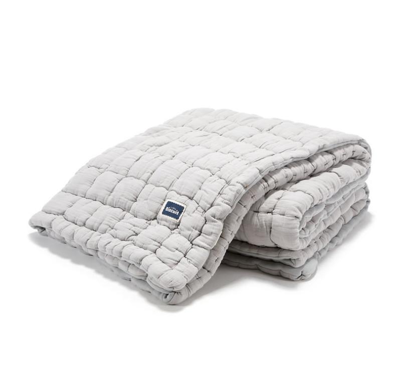 Kołdra/Narzuta Pikowana 100% Cotton - Stone - 140x200 cm - Muślin - Biscuit Collection - La Millou