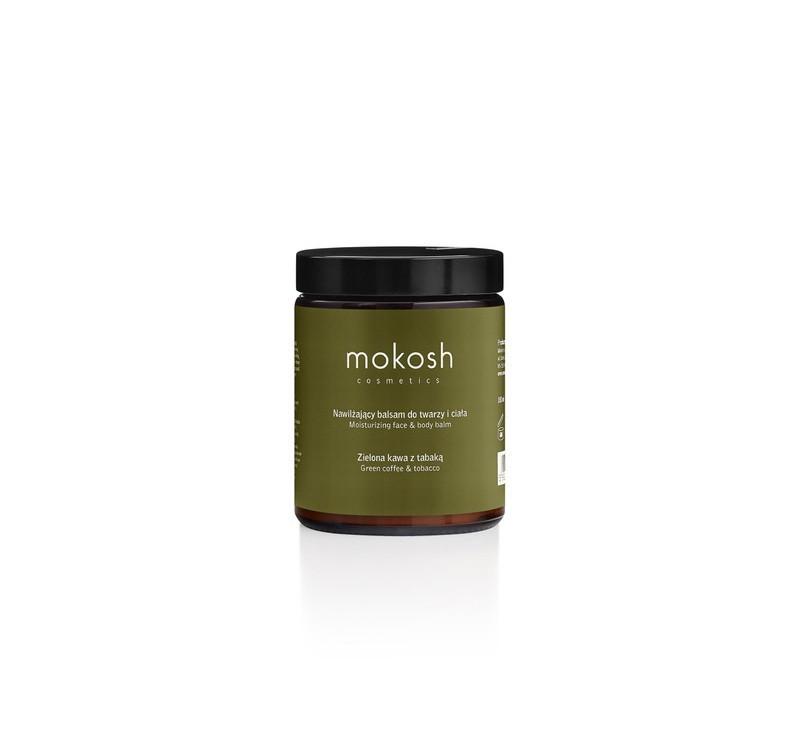 Zielona Kawa z Tabaką - Nawilżający Balsam Do Twarzy i Ciała 180 g - Mokosh