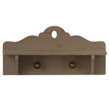 Półka Wisząca z Wieszakami - Miniature Shelf - Maileg