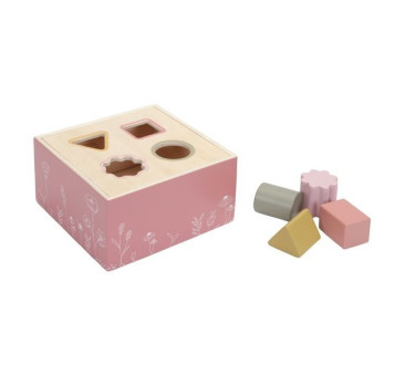 Flowers Sorter kształtów - Różowy - Little Dutch