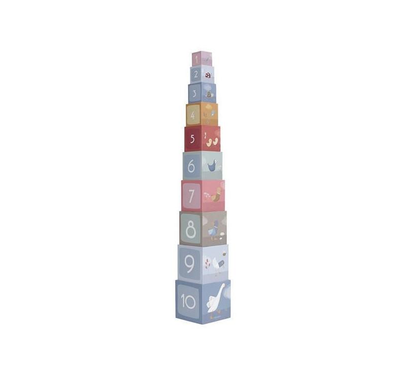 Little Goose - Wieża Kartonowa - 10 elementów - Little Dutch