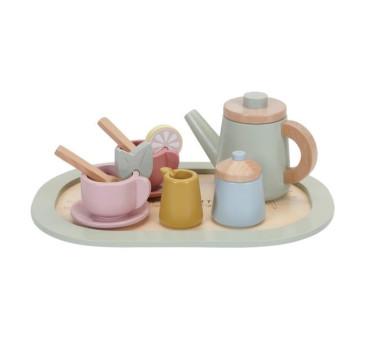 Tea Set - Kolorowy - Drewniany zestaw do herbaty - Little Dutch
