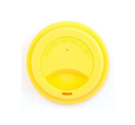 JACK N'JILL - silikonowa nakładka na kubek - żółta