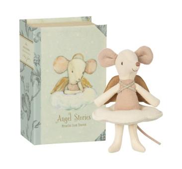Myszka Aniołek w Książce - Angel Stories Mouse In Book - Big Sister - Maileg