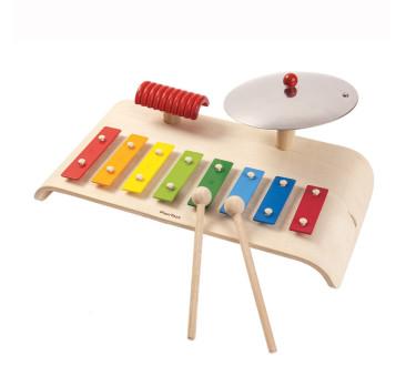 Zestaw muzyczny, cymbałki, dzwonki diatoniczne - Plan Toys - Montessori