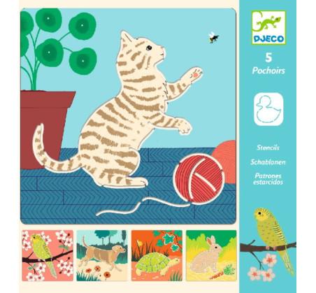 Zwierzątka - Szablony Do Odrysowania - Djeco