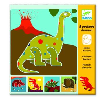 Dinozaury - Szablony Do Odrysowania - Djeco