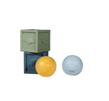 Ocean - Silikonowe Zabawki Kąpielowe - Little Dutch