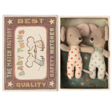 Myszki Bliźnięta w Pudełku - Twins in Box - Baby Mice - Maileg