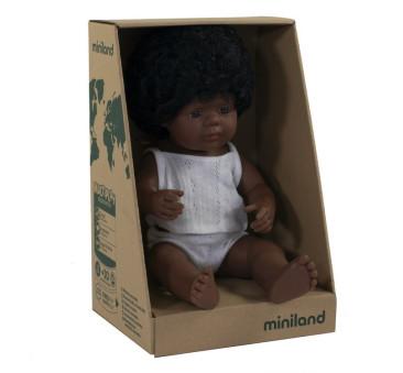 Afroamerykanka 38 cm - Lalka Dziewczynka Afroamerykanka - Miniland Doll - Miniland