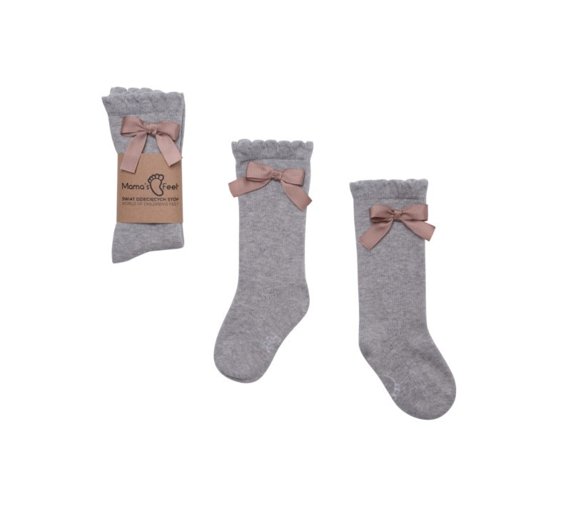 Podkolanówki 1-3 lat - Klara - Szare - Kolekcja Ladies - Mama's Feet