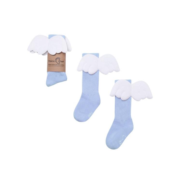 Podkolanówki 4-6 lat - Błękitny Aniołek - Mamas Feet - Mama's Feet