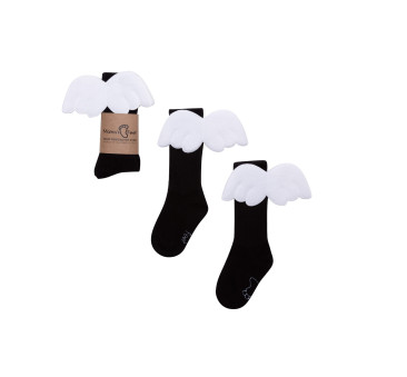 Podkolanówki 0-1 lat - Czarny Aniołek - Mamas Feet - Mama's Feet