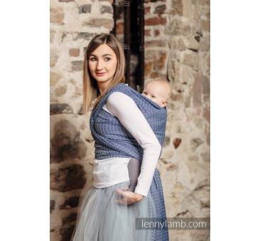 Żakardowa chusta do noszenia dzieci - LITTLE LOVE - AQUA - Rozmiar LennyLamb