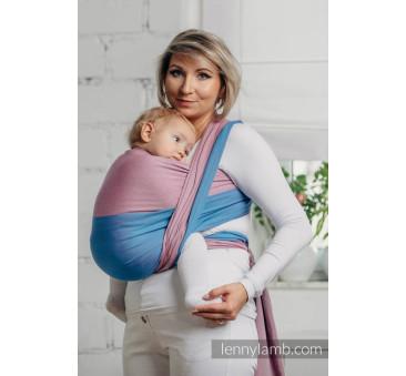 Moja pierwsza chusta do noszenia dzieci - FLUORYT, tkana splotem skośno - krzyżowym - Rozmiar S (4,2 metra) - LennyLamb