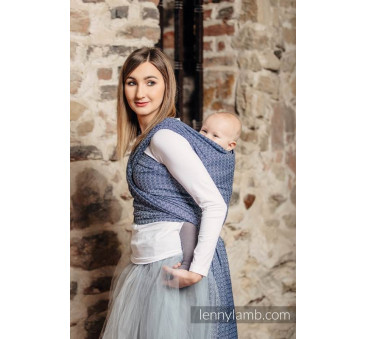 Żakardowa chusta do noszenia dzieci - LITTLE LOVE - AQUA - Rozmiar M LennyLamb