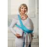 Moja pierwsza chusta do noszenia dzieci - LARIMAR, tkana splotem skośno - krzyżowym - Rozmiar M - LennyLamb