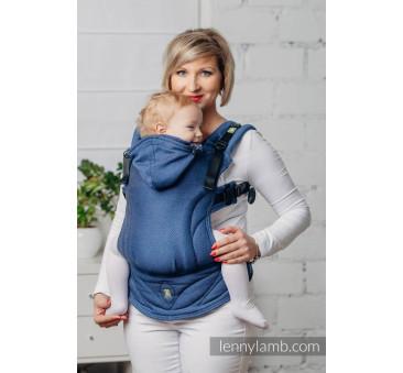 MojMoje pierwsze nosidełko ergonomiczne - KOBALT, splot jodełkowy , Baby size, Druga Generacja - LennyLamb