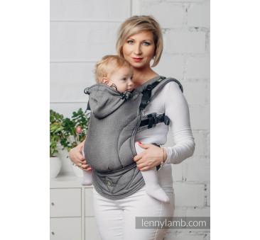Moje pierwsze nosidełko ergonomiczne - GRAFIT, splot jodełkowy , Baby size, Druga Generacja - LennyLamb