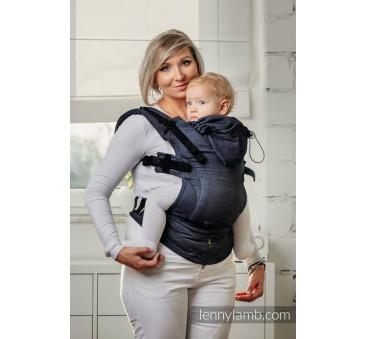 Moje pierwsze nosidełko ergonomiczne - JEANS, splot jodełkowy , Baby size, Druga Generacja - LennyLamb
