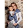 Żakardowa chusta kółkowa do noszenia dzieci, ramię bez zakładek - LITTLE LOVE - AQUA - LennyLamb