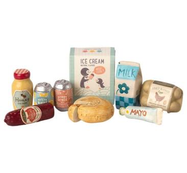 Produkty Spożywcze - Miniature Grocery Box - Akcesoria dla Lalek - Maileg