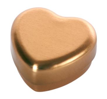 Złote Metalowe Serduszko - Small Heart Box Gold - Maileg