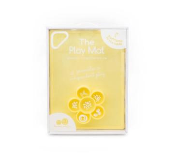 Silikonowa mata do zabawy z pojemniczkami 2w1 Flower Play Mat - żółta - EZPZ