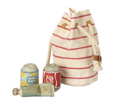 Plażowa Torba Z Napojami - Bag With Beach Essentials - Maileg