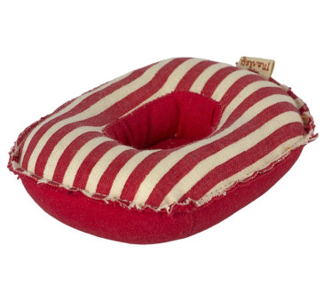Ponton w Czerwone Paski - Rubber Boat Red Stripes - Small Mouse - Maileg