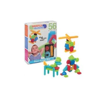 Klocki jeżyki w pudełku - 56 elementów - Bristle Blocks