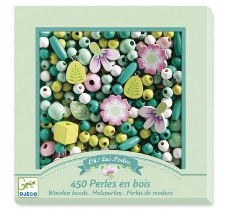 Perełki Kwiaty I Liście - Zestaw Do Tworzenia Biżuterii - Djeco