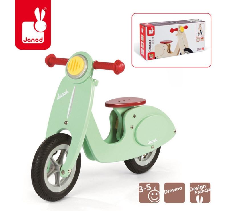 Rowerek biegowy miętowy Scooter - Janod