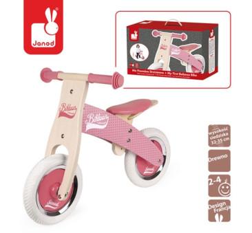 Rowerek biegowy różowy Little Bikloon 2+ - Janod
