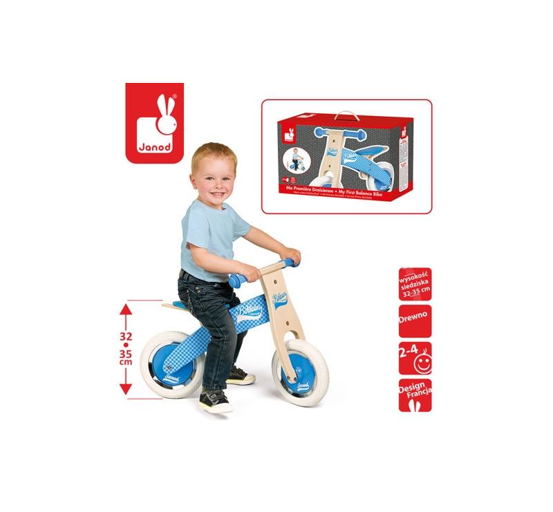 Rowerek biegowy niebieski Little Bikloon 2+ - Janod