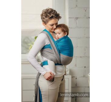 SODALIT M - Moja pierwsza chusta do noszenia dzieci - tkana splotem skośno - krzyżowym - Rozmiar M (4,6 metra) - LennyLamb