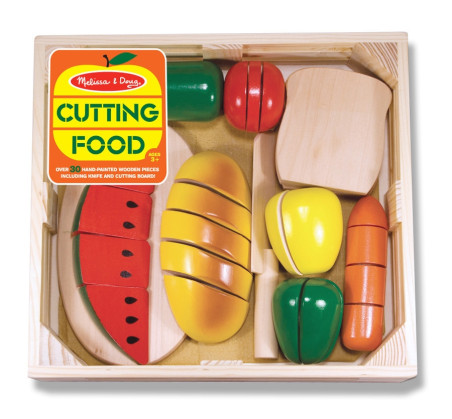 Drewniane owoce i warzywa do krojenia - Melissa & Doug - Montessori