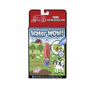 Malowanie wodą - Water Wow! - znikające kolory - kolorowanka farma - Melissa & Doug