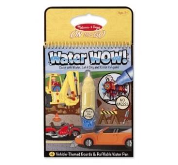 Pojazdy - Malowanie Wodą - Water Wow!- Znikające Kolory - Kolorowanka Wodna - Melissa & Doug