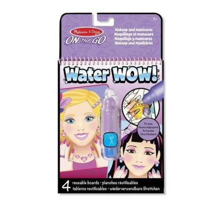 Makijaż i Manicures - Malowanie Wodą - Water Wow!- Znikające Kolory - Kolorowanka Wodna - Melissa & Doug