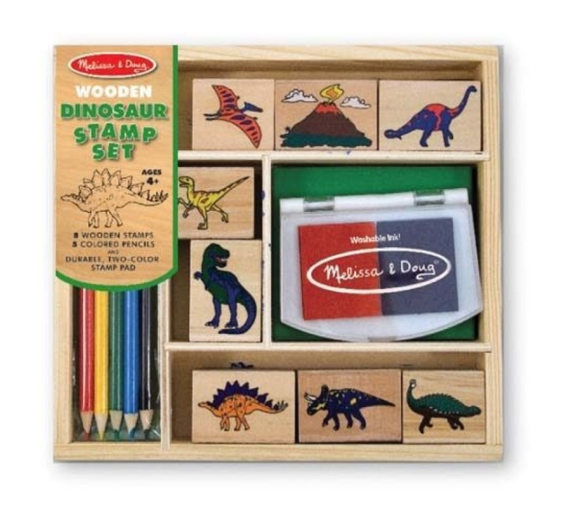 Drewniane pieczątki / stempelki Dinozaury - Melissa & Doug