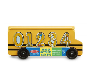 Drewniany sorter matematyczny - Autobus - Melissa & Doug - Montessori