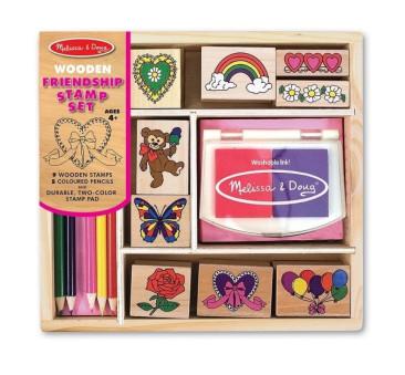 Drewniane pieczątki / stempelki Przyjaźni - Melissa & Doug - Montessori